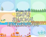 Simple Seasonal Backgrounds (Lime and Kiwi Designs)