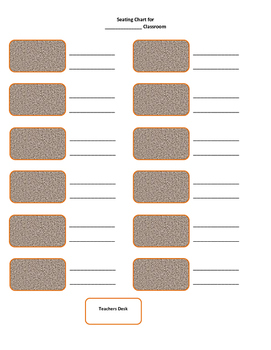 Simple Seating Chart