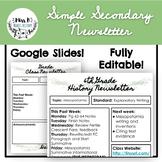 Simple Secondary Newsletter- Eucalyptus Theme