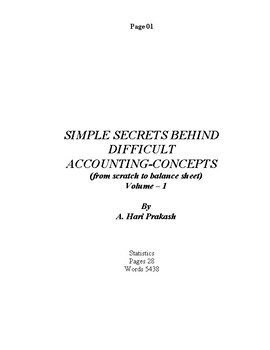 Simple Secrets behind Difficult Accounting-concepts