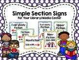 Simple Section Signs for Your Library/Media Center