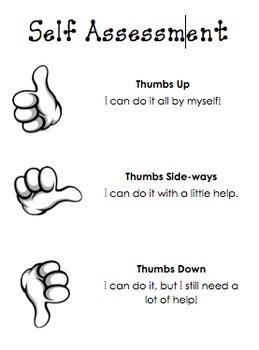 Simple Self Assessment Chart