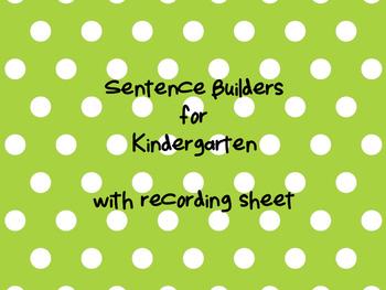Simple Sentence Builders