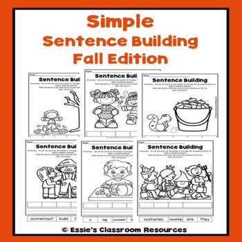 Simple Sentence Building Fall Edition