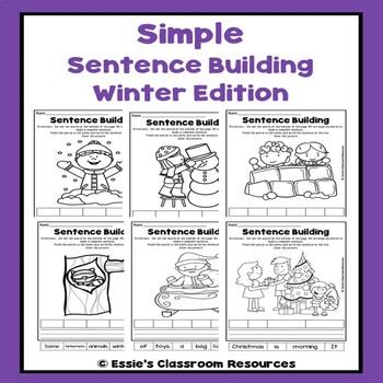 Simple Sentence Building -Winter Edition