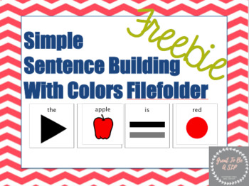 Simple Sentence Building With Colors Freebie!