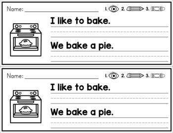 Simple Sentence Practice Strips - CVCE Words