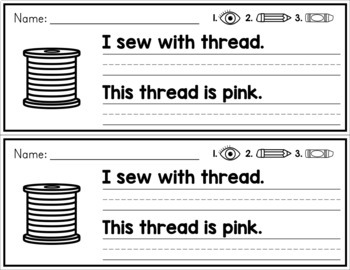 Simple Sentence Practice Strips - Digraph Words