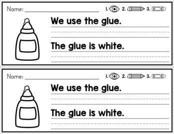 Simple Sentence Practice Strips - Vowel Teams