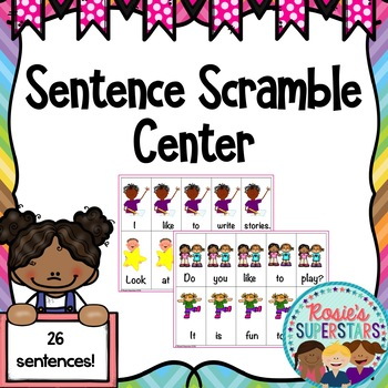Sentence Scramble Center with QR Codes