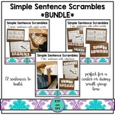 Simple Sentence Scrambles *Bundle*
