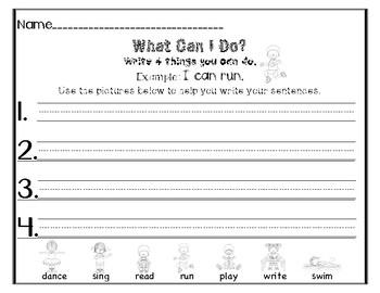 Writing Simple Sentence Starters