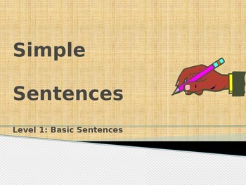 Simple Sentence: Level 1: Basic Sentences Power Point
