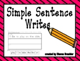 Concept of Word Simple Sentence Write