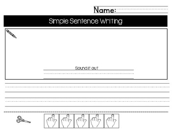 Simple Sentence Writing with Sight Words UPDATED