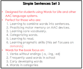 Simple Sentences #3 Books for Early Language Learners