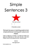 Simple Sentences 3 (Special Needs, Reading, Autism)