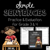 Simple Sentences - Canadian and American Spellings Included