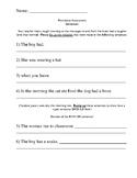 Simple Sentences Assessment