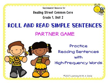 Simple Sentences~ Building Reading Fluency Partner Game ~ High Frequency Words