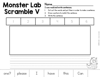 Simple Sentences Center - Halloween
