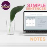 Simple Sentences Grammar Lesson PPT