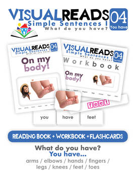 Simple Sentences I. 04 You have (body parts). Reading Book+Workbook+Flashcards