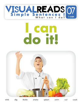 Simple Sentences I. 07 I can (actions). Reading Book+Workbook+Flashcards