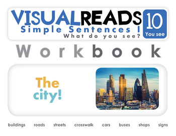 Simple Sentences I. 10 You see (the city). Reading Book+Workbook+Flashcards