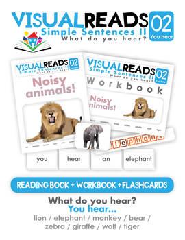 Simple Sentences II. 02 You hear (animals). Reading Book+Workbook+Flashcards