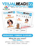 Simple Sentences II. 06 You wear (clothes). Reading Book+Workbook+Flashcards