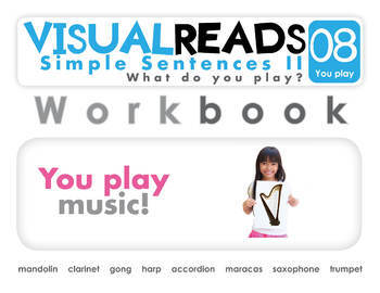 Simple Sentences II. 08 You play (instruments). Reading Book+Workbook+Flashcards