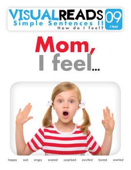 Simple Sentences II. 09 I feel (emotions). Reading Book+Workbook+Flashcards