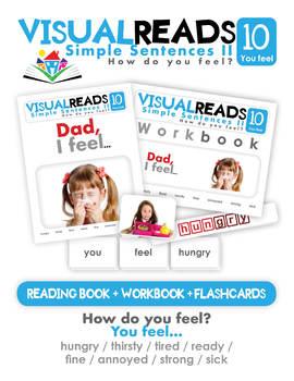Simple Sentences II. 10 You feel (needs). Reading Book+Workbook+Flashcards