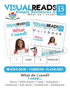 Simple Sentences II. 13 I need (toiletries). Reading Book+Workbook+Flashcards