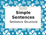 Simple Sentences Notes and Practice