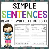 Simple Sentences Worksheets-Simple Sentences Activity