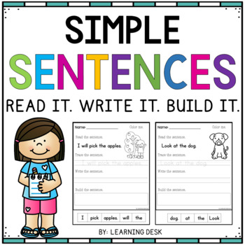 Simple Sentences for early readers- Read, Trace, Write and