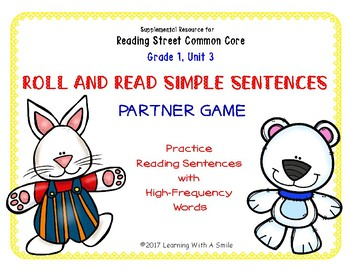 Simple Sentences~ Reading Fluency Partner Game ~ High Frequency Words Unit 3