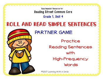 Simple Sentences~ Reading Fluency Partner Game ~ High Frequency Words Unit 4