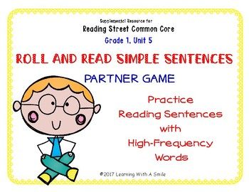 Simple Sentences~ Reading Fluency Partner Game ~ High Frequency Words Unit 5