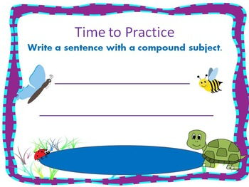 Simple Sentences & Sentences with Compound Subjects & Predicates