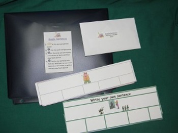 Simple Sentences-Teacher Made literacy Center-file folder game-learning activity