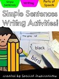 Simple Sentences Writing Activities (multi-sensory)