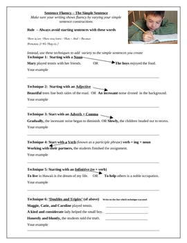 Printables Sentence Fluency Worksheets simple sentences and sentence fluency by quality counts teachers fluency