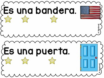 Back to School Simple Sentences for Guided Reading in Spanish Lectura guiada