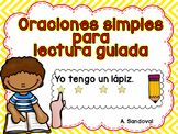 Back to School Simple Sentences for Guided Reading in Span