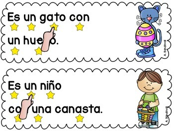 Simple Sentences for Guided Reading in Spanish-APRIL Lectura guiada