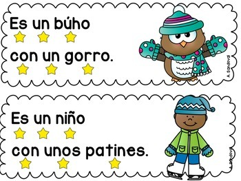 Simple Sentences for Guided Reading in Spanish JANUARY Lectura guiada