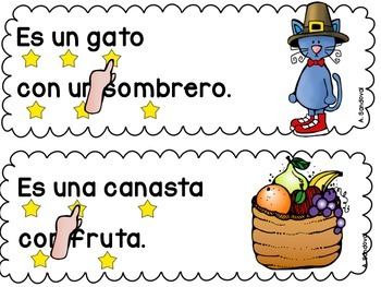 Simple Sentences for Guided Reading in Spanish-November Lectura guiada